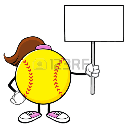 Softball Vector Clipart