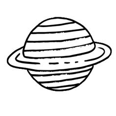 236x236 Free Science Themed Coloring Pages, Featuring Simple Black
