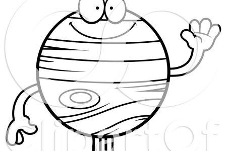 450x300 Solar System Cartoon Clip Art Black And White