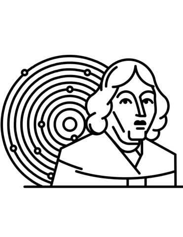 371x480 Copernicus And Solar System Coloring Page Free Printable