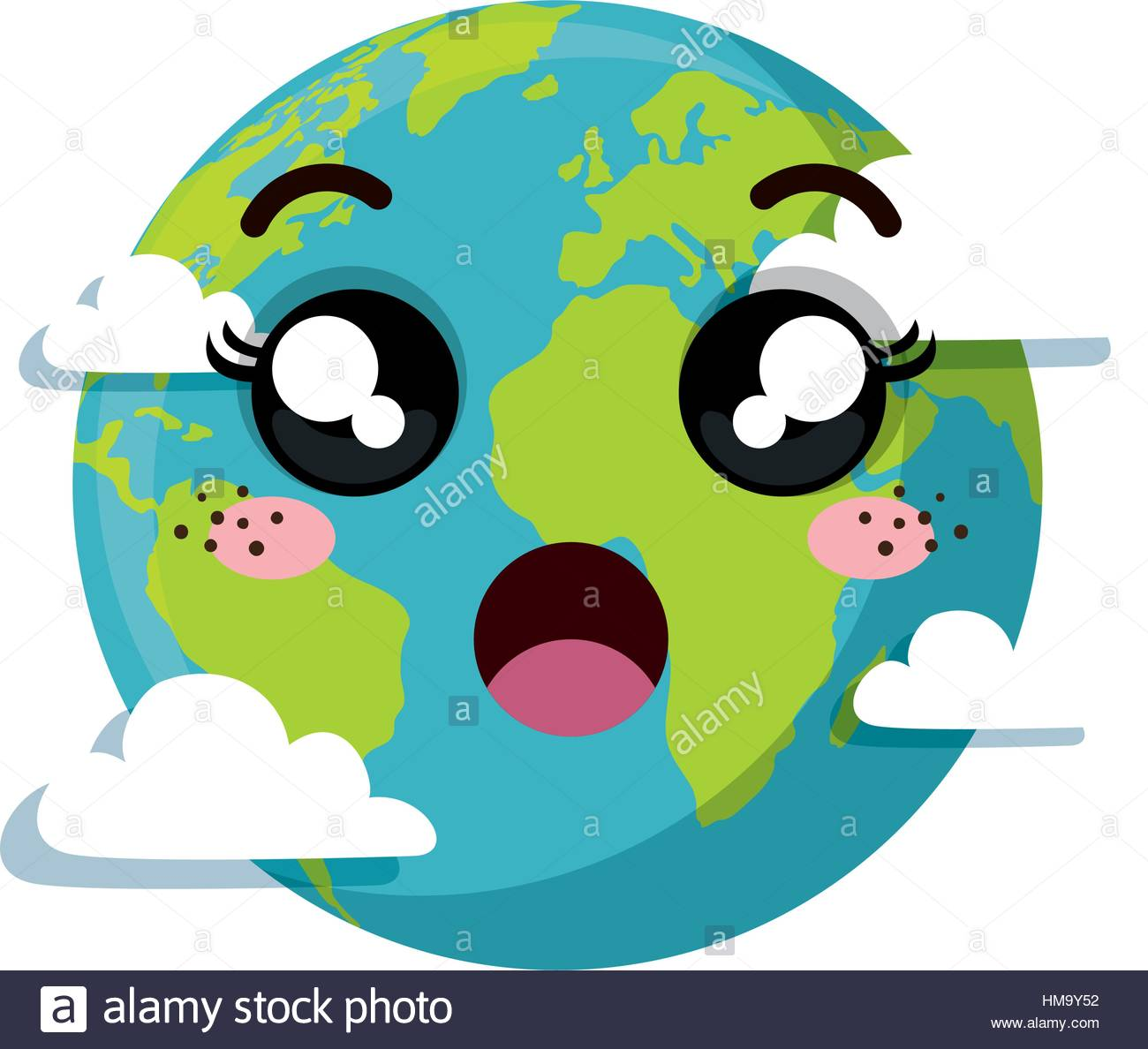 1300x1188 Planet Earth Character Of The Solar System Vector Illustration