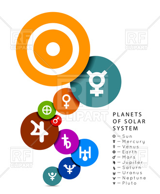 330x400 Planets Of Solar System In Flat Style Royalty Free Vector Clip Art