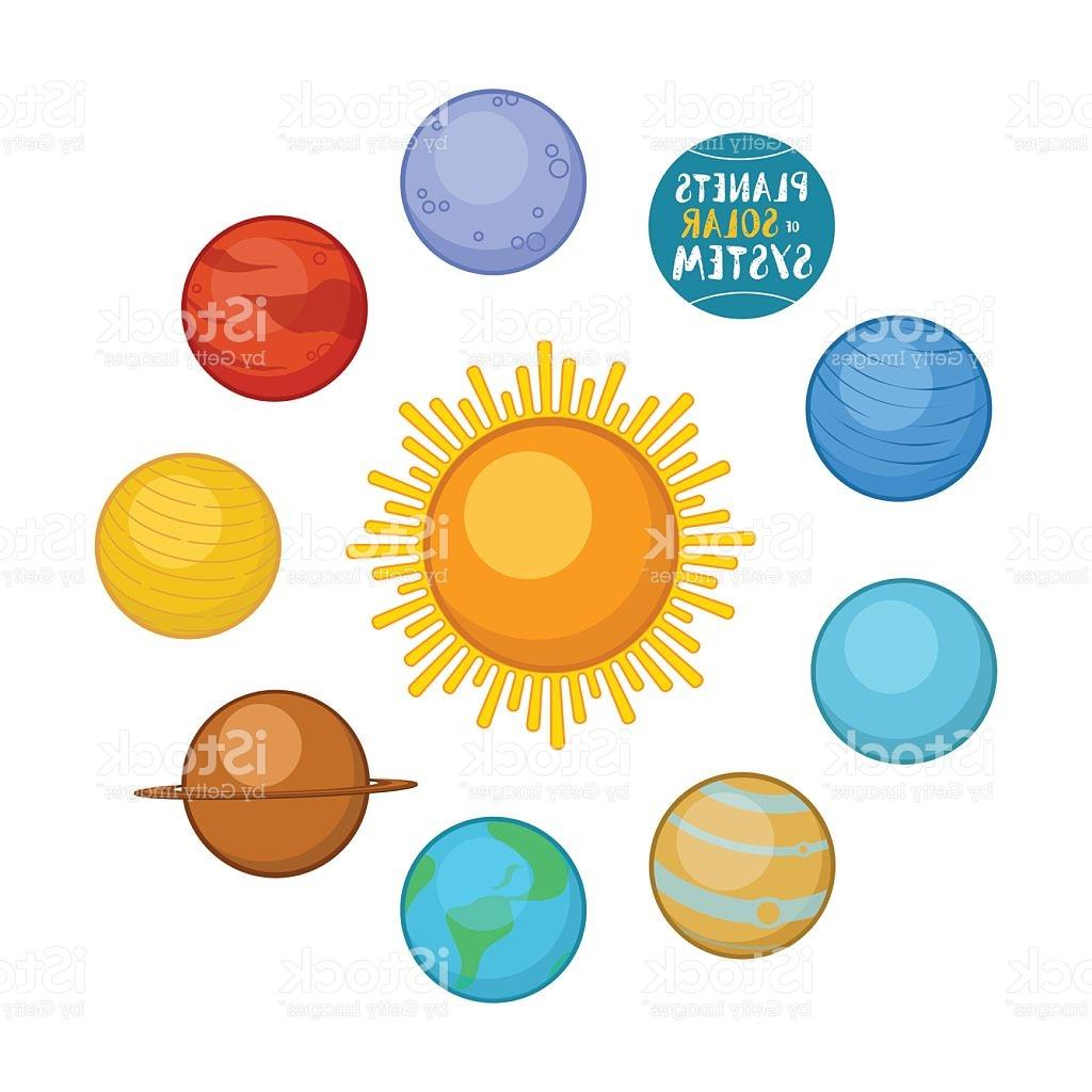 1024x1024 Best Free Planets Of Solar System Cartoon Style Vector