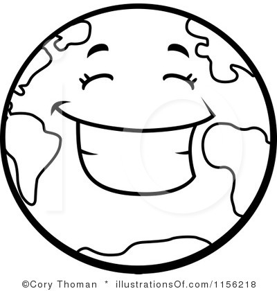 400x420 Earth Clipart Outline