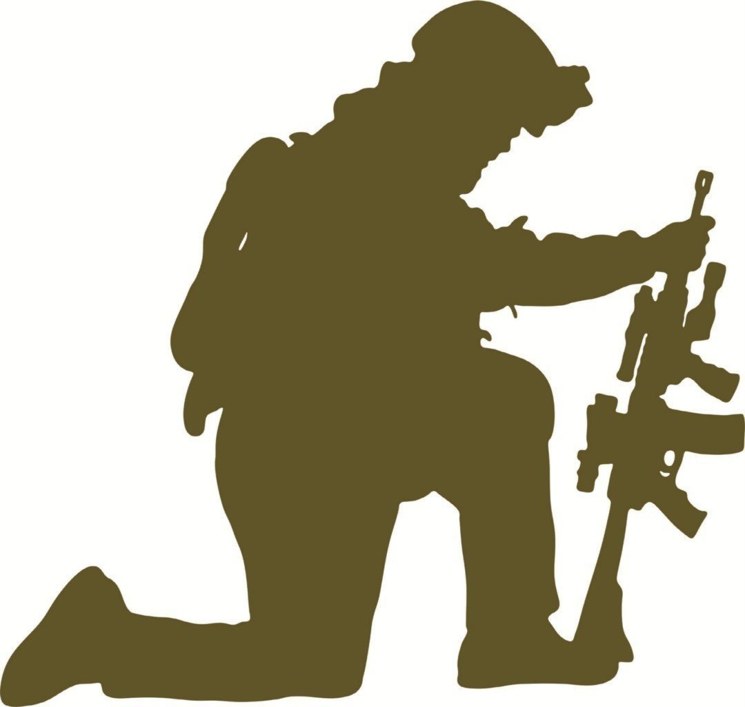 Soldier Kneeling In Prayer Clipart | Free download best Soldier ...