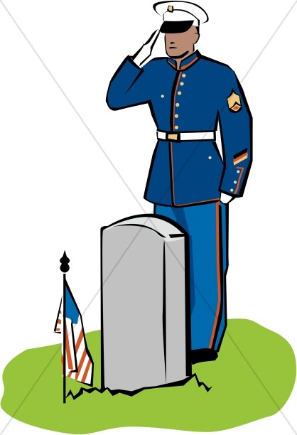 418x612 Dress Soldier Salutes The Fallen Color Memorial Day