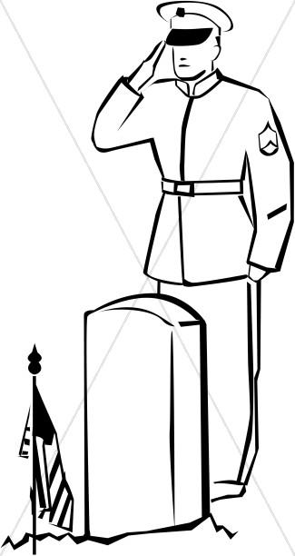 325x612 Soldier Saluting The Fallen Memorial Day