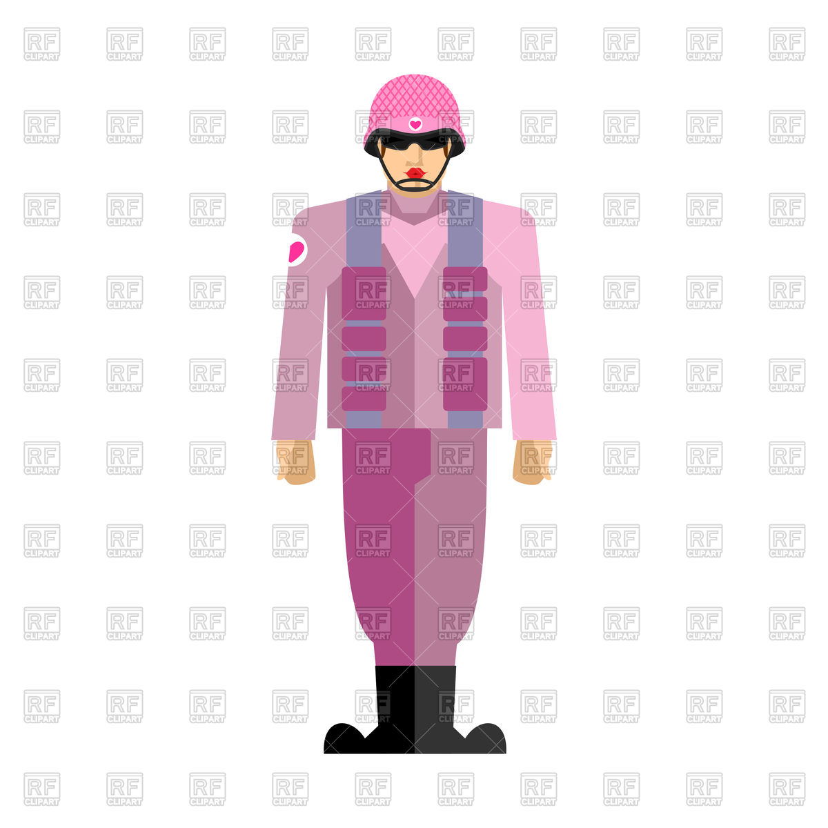 1200x1200 Gay Soldiers In Pink Uniform Royalty Free Vector Clip Art Image