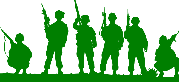 600x275 Green Toy Soldiers Clip Art