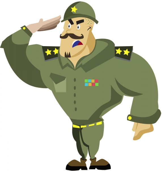 571x600 Soldiers Clipart Salute