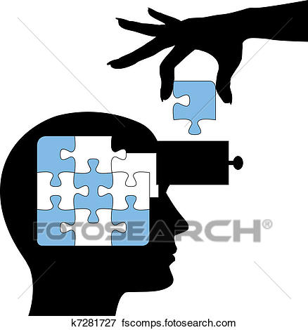 438x470 Clip Art Of Education Person Learn Mind Puzzle Solution K7281727