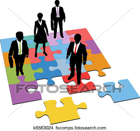 450x422 Clipart Of Business People Solution Management Resources Puzzle
