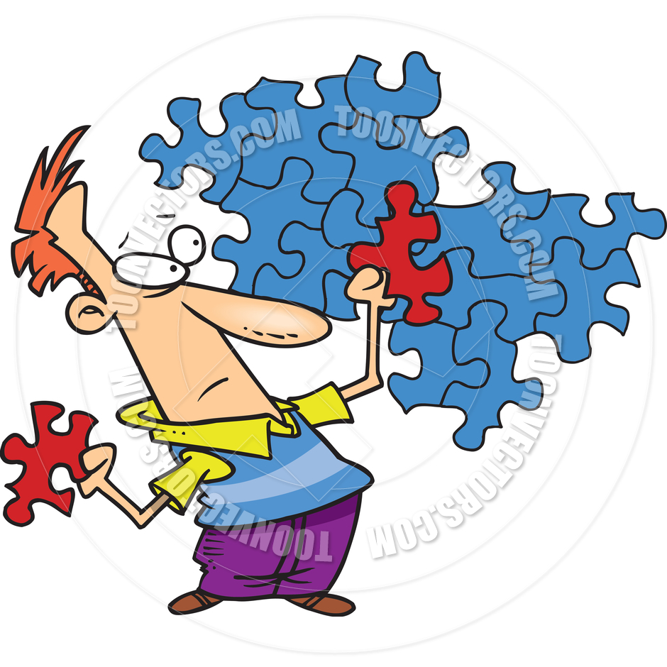 940x940 Cartoon Puzzle Solution By Ron Leishman Toon Vectors Eps