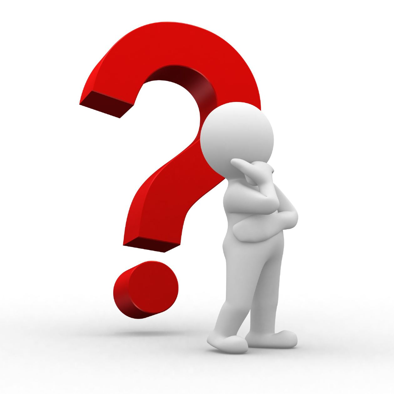 1260x1260 Person Thinking With Question Mark Clipart Panda