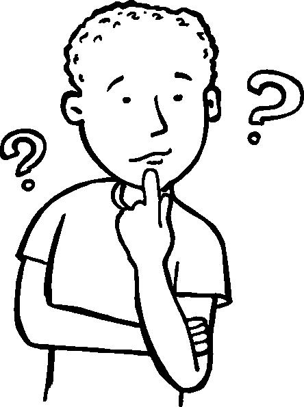 444x595 Thinkingboy Outline Clip Art