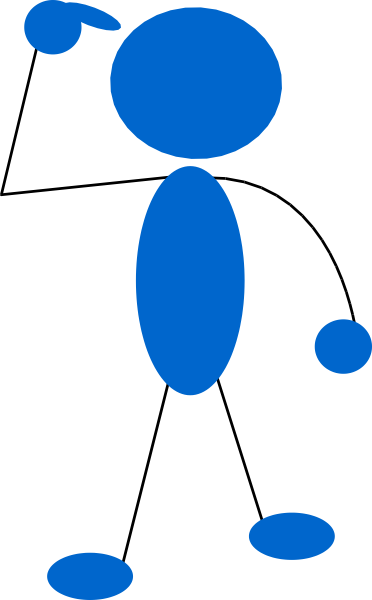 372x600 Blueman Thinking Clip Art