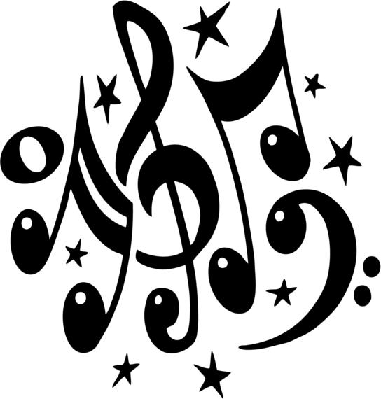 544x570 Clipart Music Notes