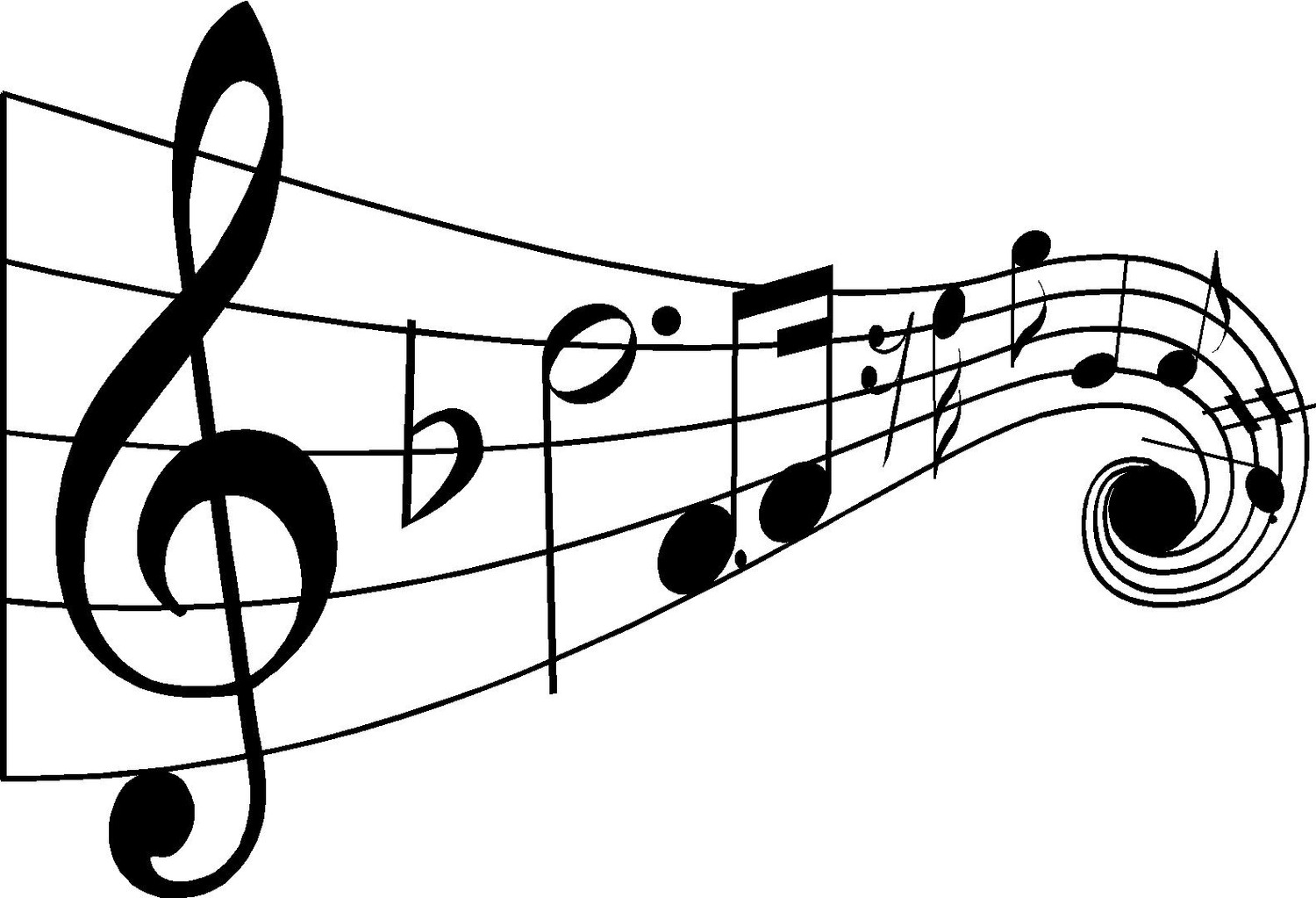 1500x1023 Music Notes No Background Clipart