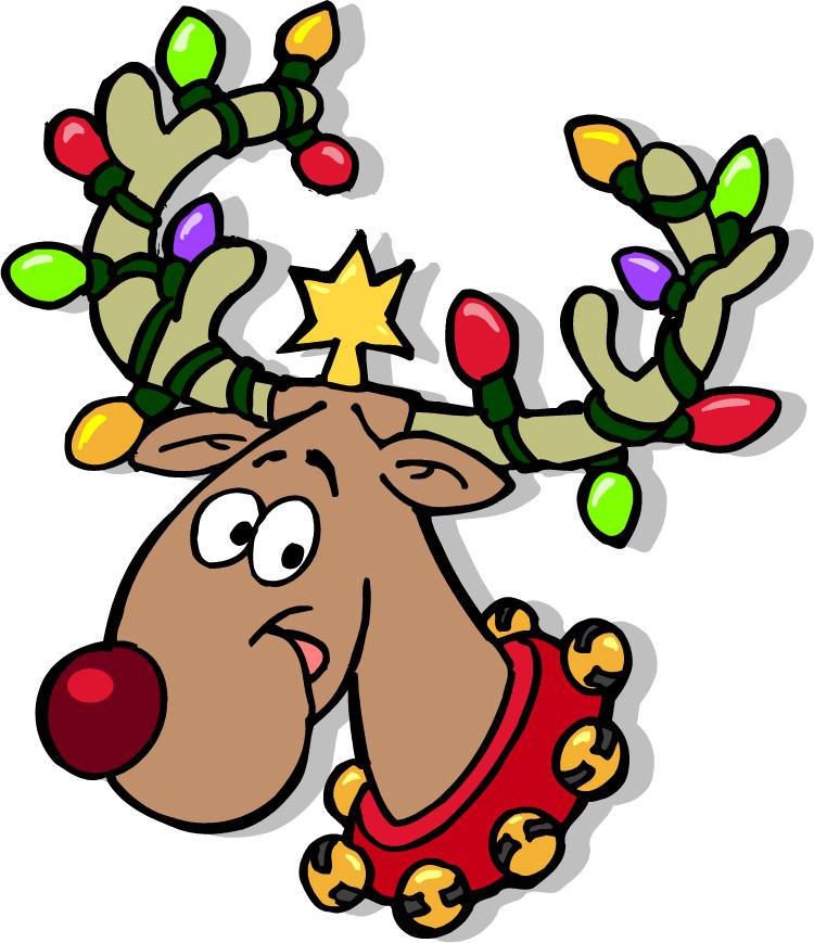 750x869 Cartoon Pictures Of Reindeer Free Clip Art