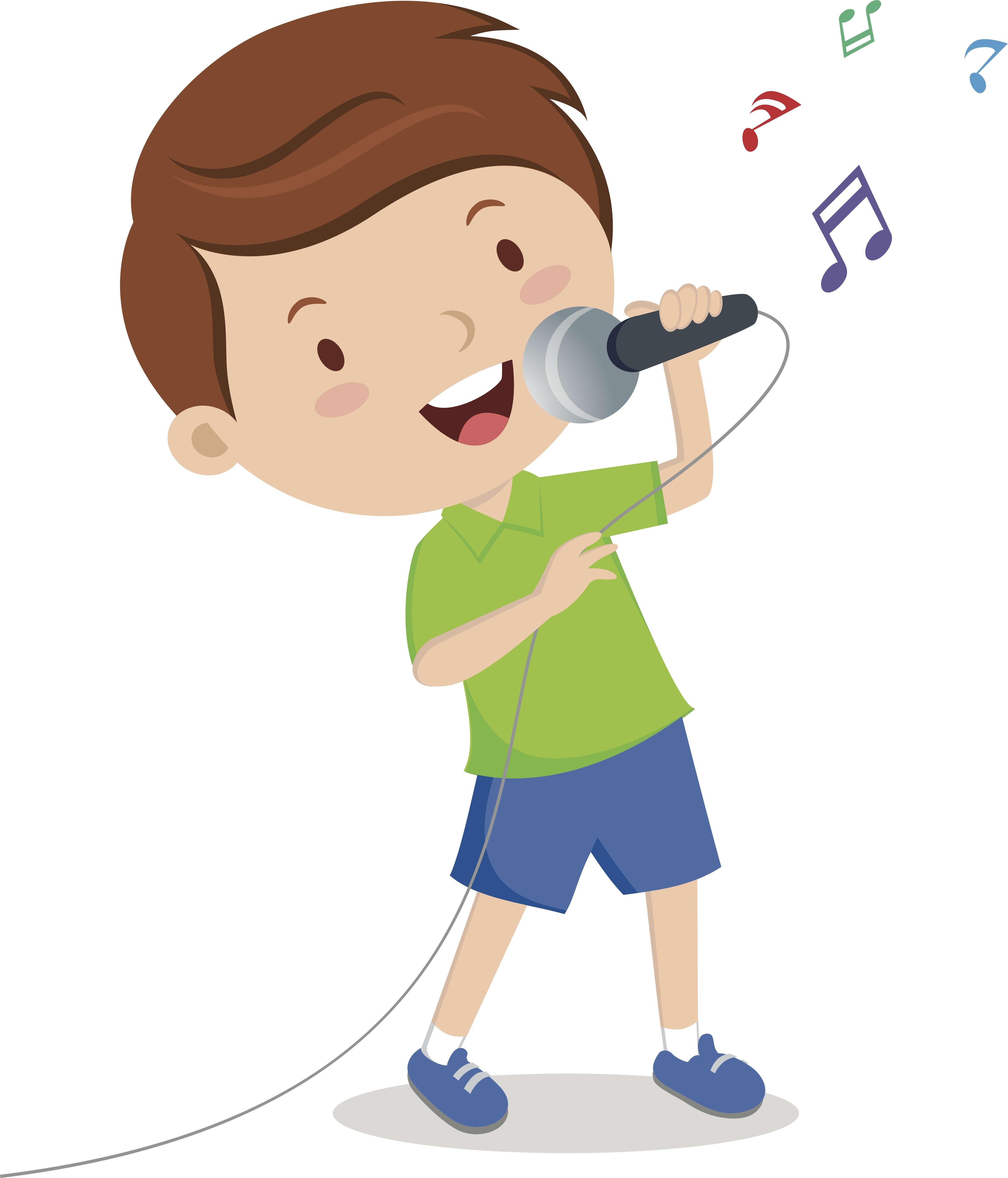4527x5291 Child Clipart Singing Song