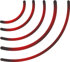298x267 Radio Waves (Black And Red) Clip Art
