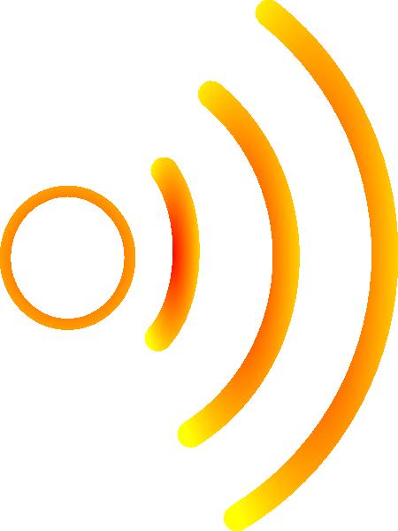 450x600 Radio Waves Yellow 2 Clip Art