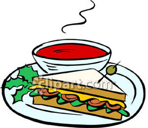 300x260 Soup Clipart Soup Sandwich