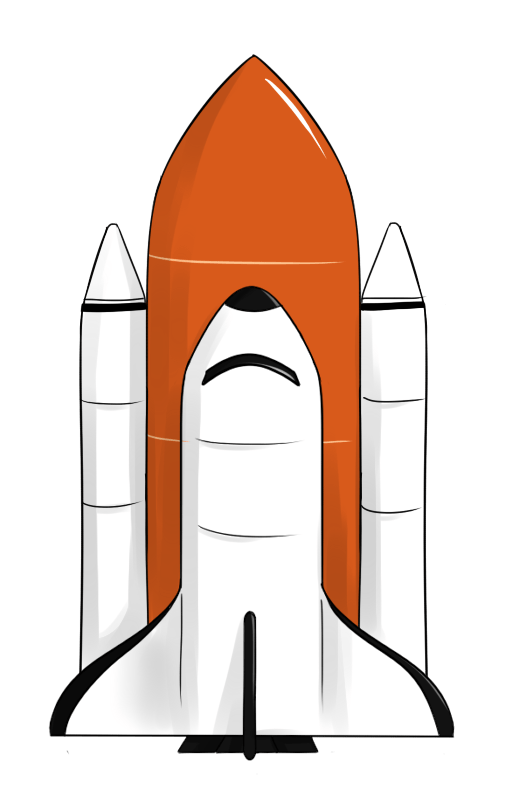 506x800 Orange Spaceship Cliparts 241387