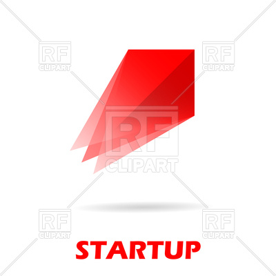 400x400 Red Spaceship Logo, Startup Royalty Free Vector Clip Art Image