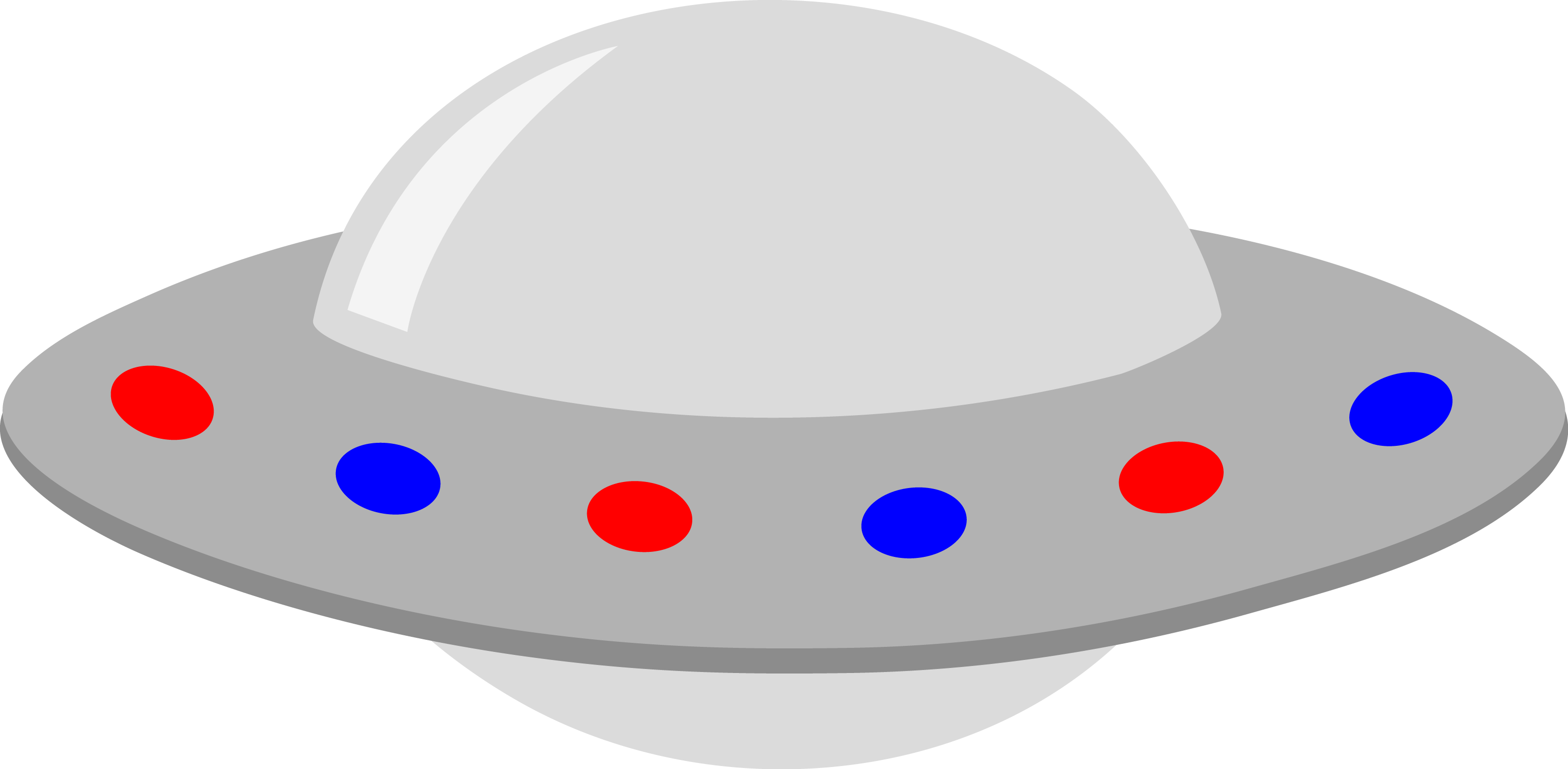 3119x1530 Silver Ufo With Red And Blue Lights