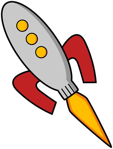 381x500 Spaceship Clipart