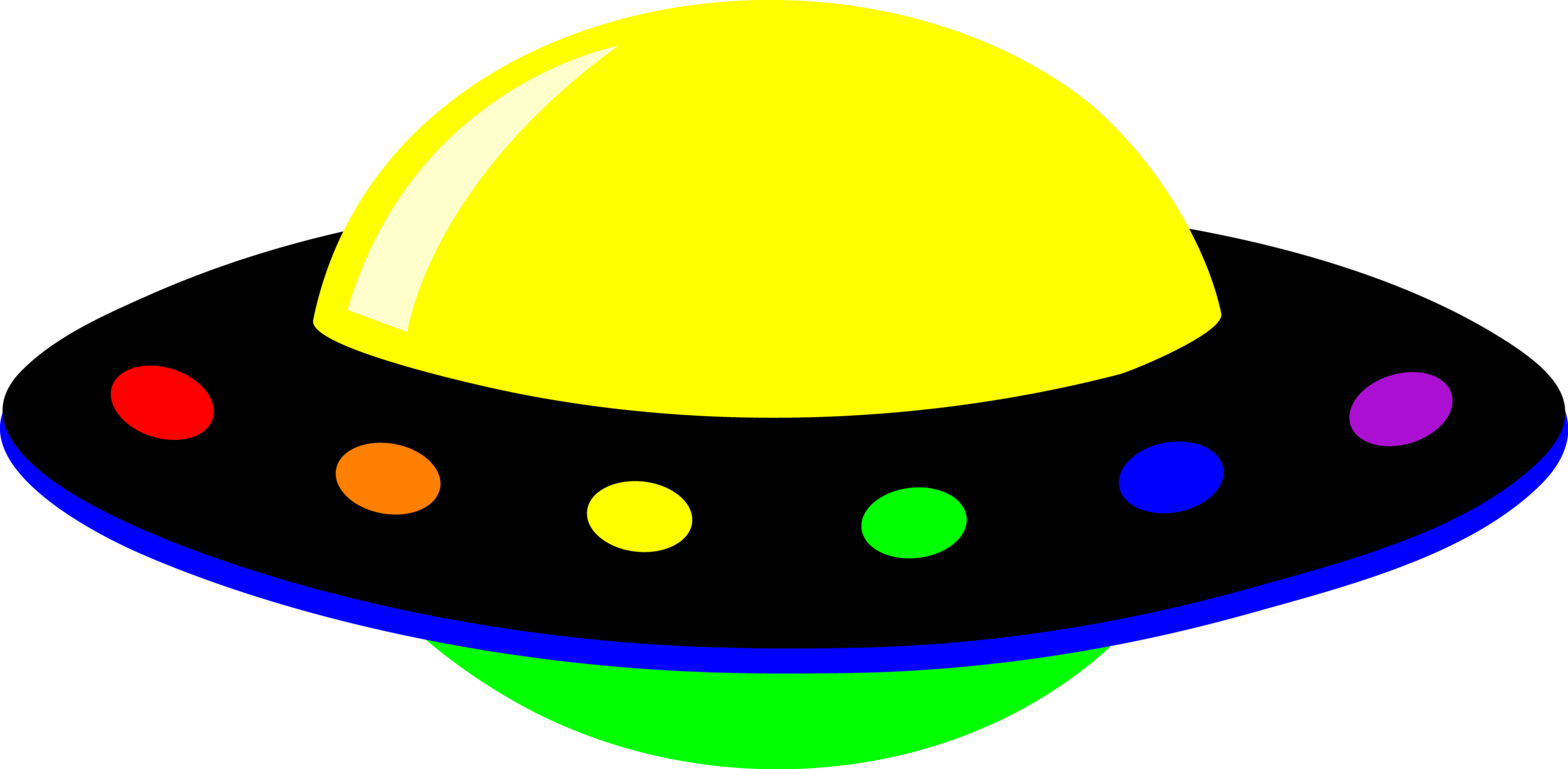 2963x1454 Spaceship Clipart Animated