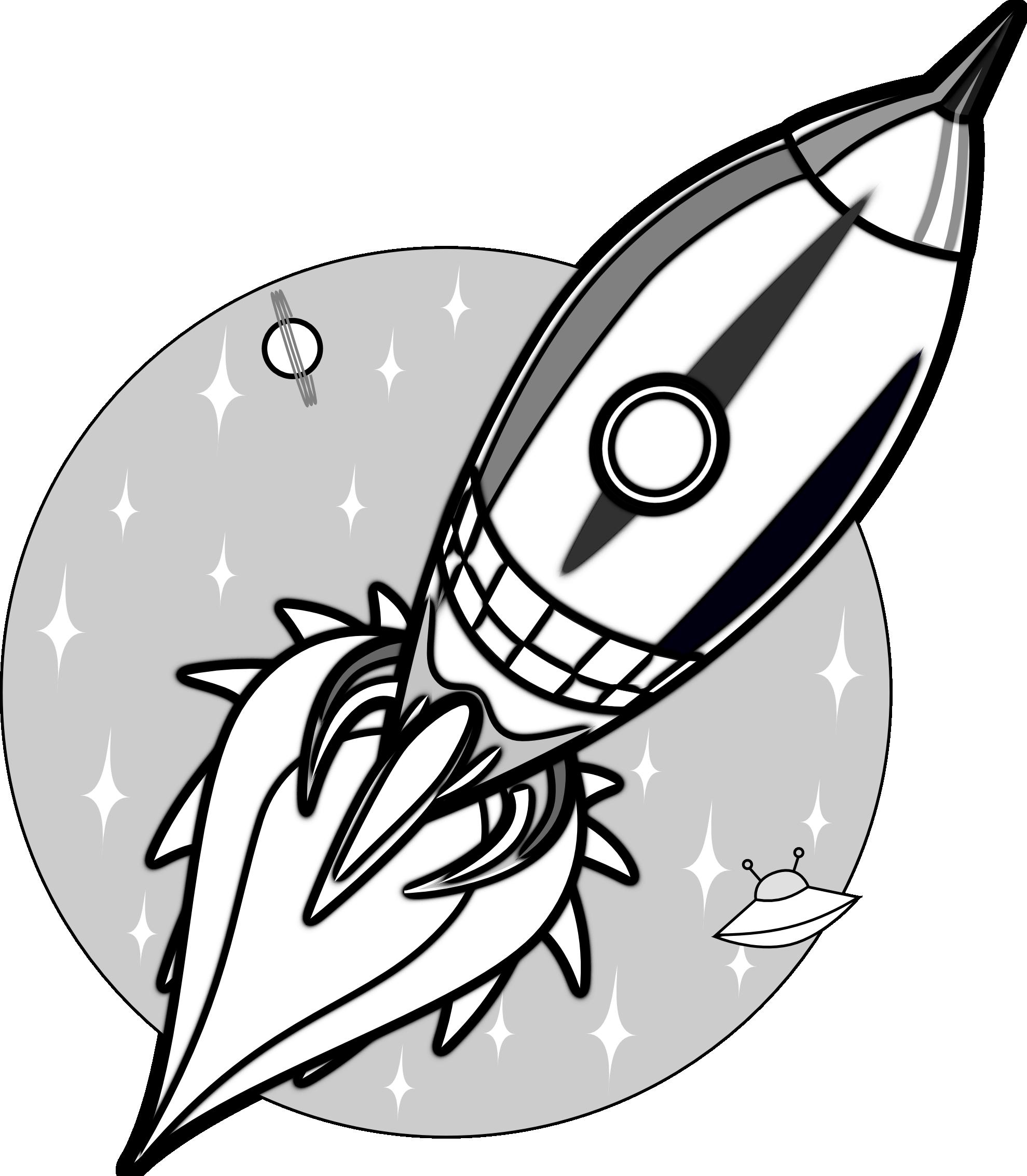 1979x2267 Spaceship Clipart Outline