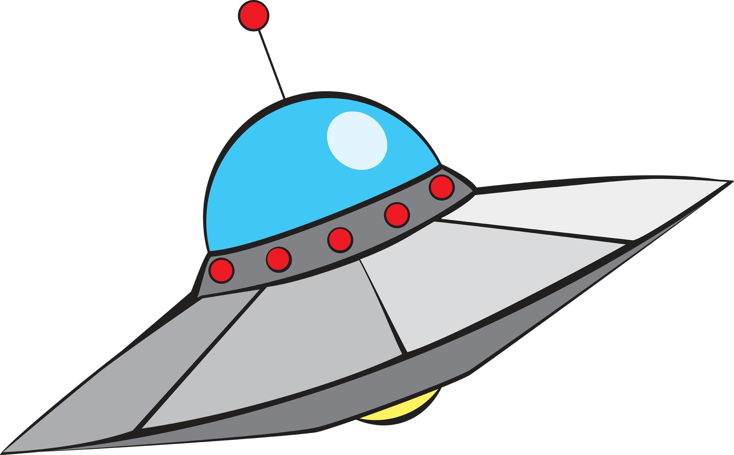 2400x1488 Alien Spaceship Clipart
