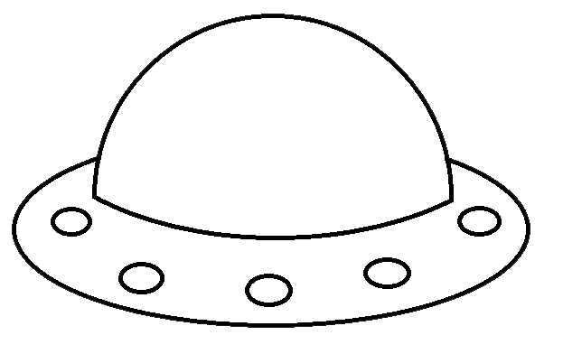 Spaceship Clipart Black And White