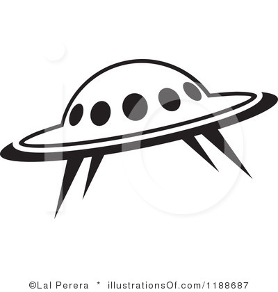 Spaceship Clipart Black And White   Free download best ...