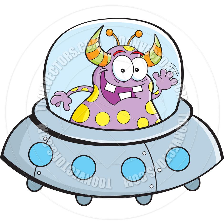 940x940 Cartoon Alien Spacecraft By Kenbenner Toon Vectors Eps