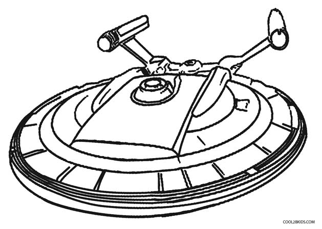 629x449 Drawn Spaceship Coloring Page