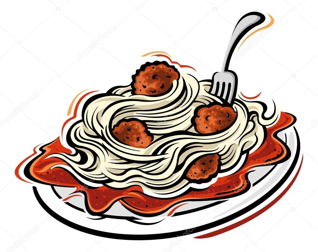 1023x812 Illustration Of Spaghetti And Meatballs Stock Vector Slipfloat