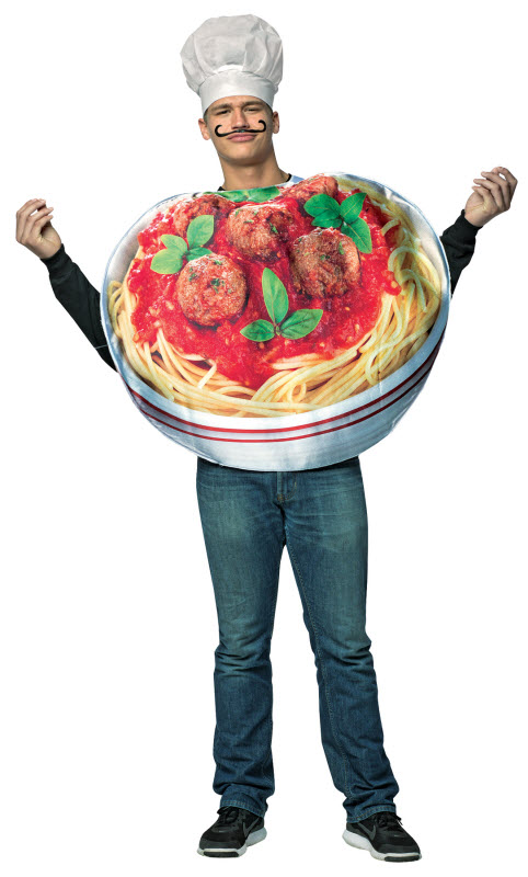 482x800 Adult Spaghetti And Meatballs Costume