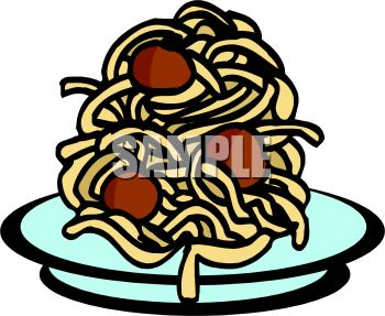 350x287 Pile Of Spaghetti And Meatballs
