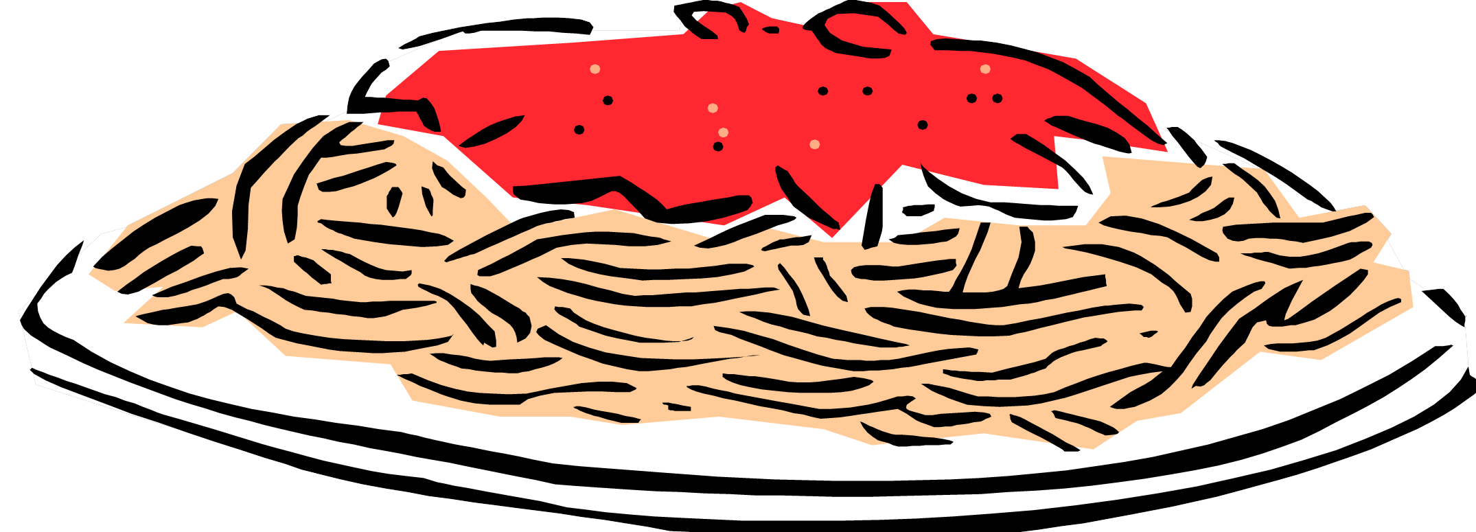 2150x775 Simple Spaghetti And Meatballs Clipart