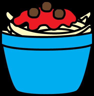 376x383 Bowl Of Spaghetti Clip Art