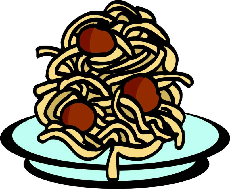 800x658 Spaghetti Dinner Clipart Collection