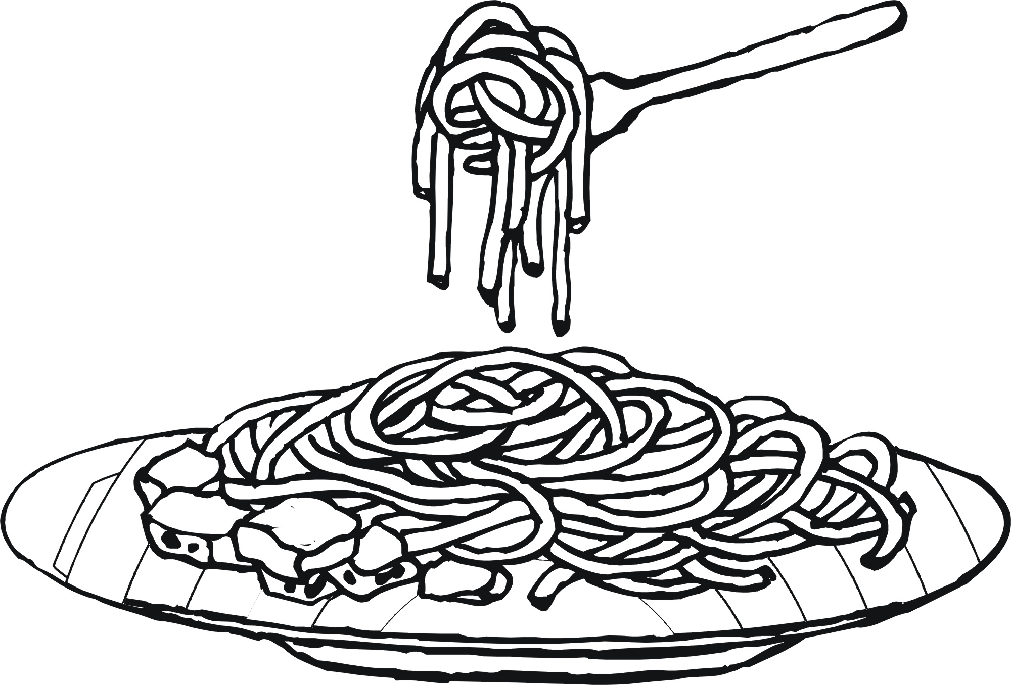 2000x1356 Very Tasty Spaghetti Colouring Pages