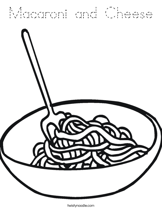 685x886 pasta clipart coloring page