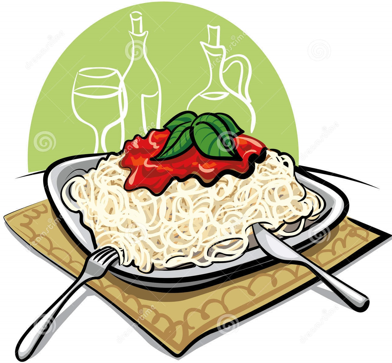 Spaghetti Dinner Clipart