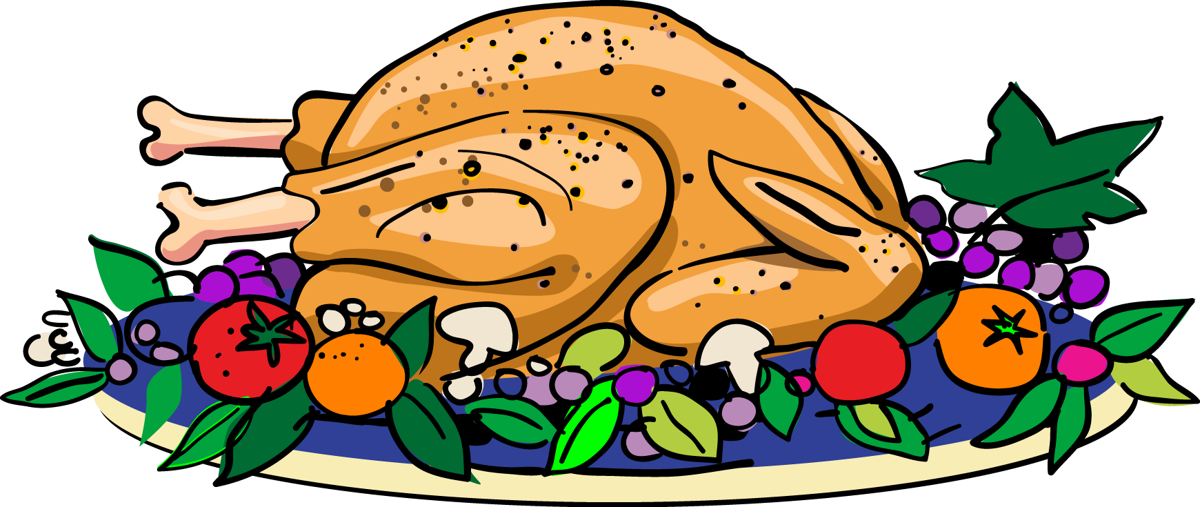 1740x735 Turkey Dinner Clipart Free Images 4