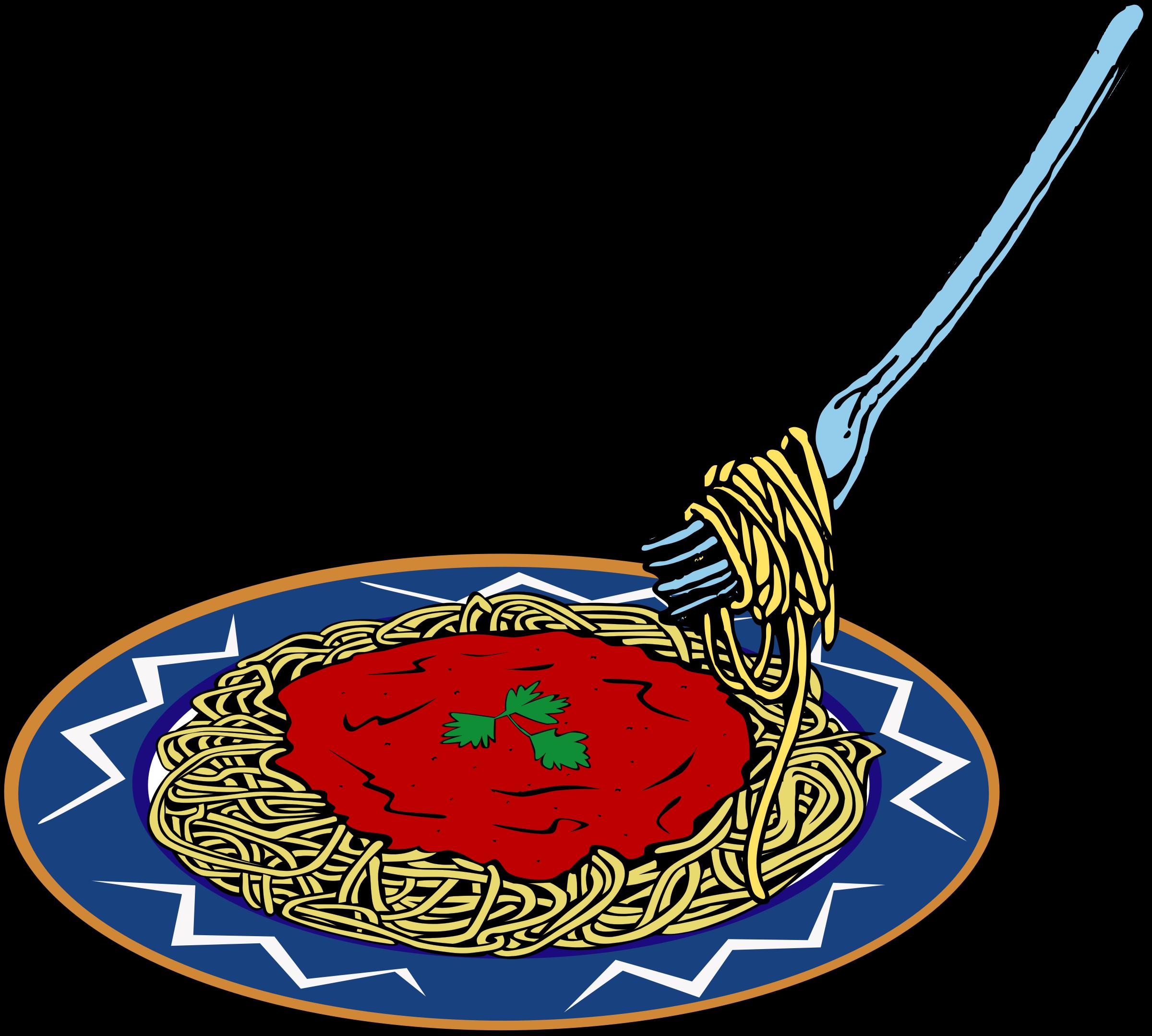 2400x2158 Spaghetti Dinner Fundraiser Flyer Template Clipart
