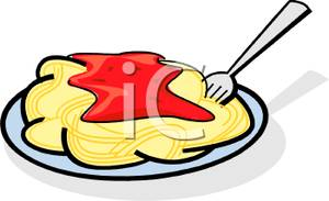 300x183 Pasta Clipart Plate Spaghetti